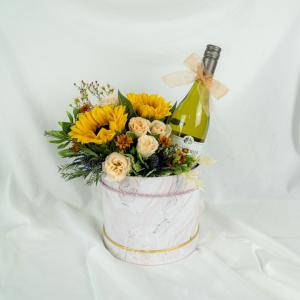 Sunflower Hamper Wine Box - Chardonnay