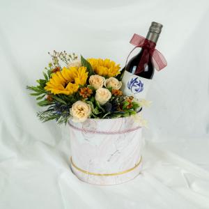 Sunflower Hamper Wine Box - Jacob Creeks Merlot