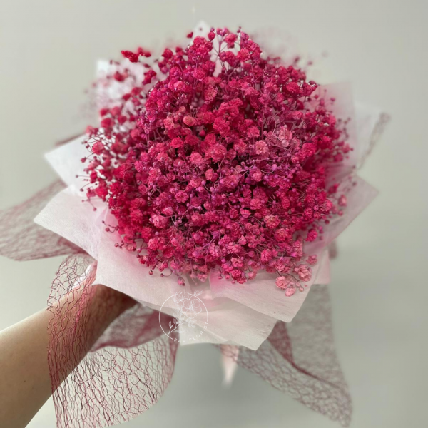 Thinking In Pink - Pink Baby Breath Bouquet