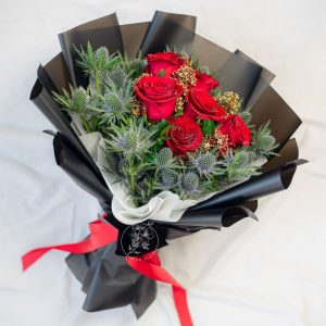 Timeless Romance - Red Rose Bouquet