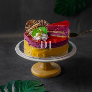 Blueberry Delight Cake Slice