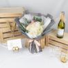 Caroline – White Hydrangea with Kenya Roses Bouquet