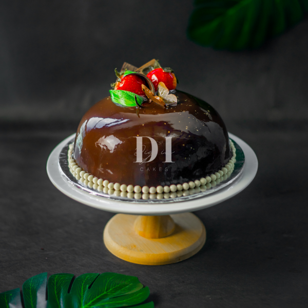 Dark Chocolate Banana Mousse Dome