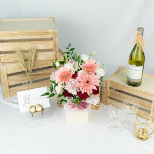 Dorothea – Gerbera & Carnation Table Arrangement