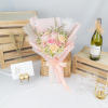Eternity – Pink Ohara Rose and Carnations Bouquet