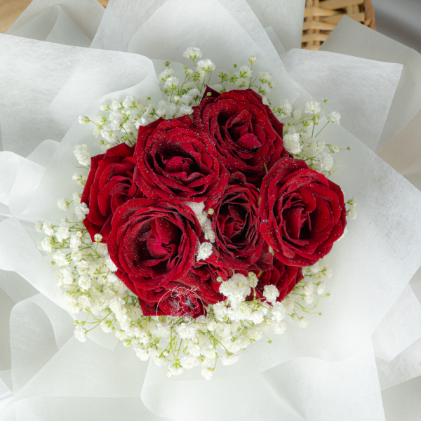 Forever Love – Rose Spray & Baby Breath Bouquet