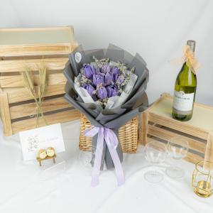 Queen Of Night – Purple Tulip Bouquet