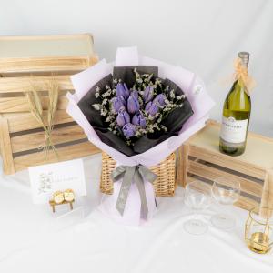 Queen Of Night - Purple Tulip Bouquet
