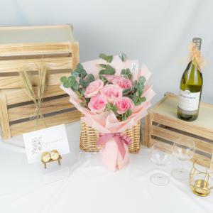 You & Me – Kenya Pink Rose Bouquet