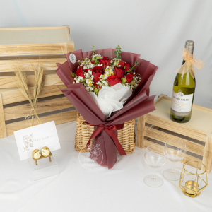 Be Mine – Kenya Red Rose and Rose Spray Bouquet