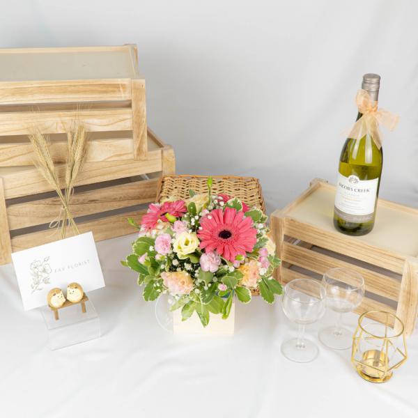 Blissful Blossoms - Gerbera & Eustoma Bouquet Table Arrangement