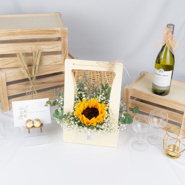 Delightful – Sunflower Baby Breath Box