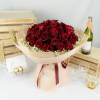 Fall In Love - Red Kenya Roses & Baby Breath Bouquet