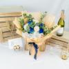 Fantasy – White & Blue Kenya Rose Bouquet