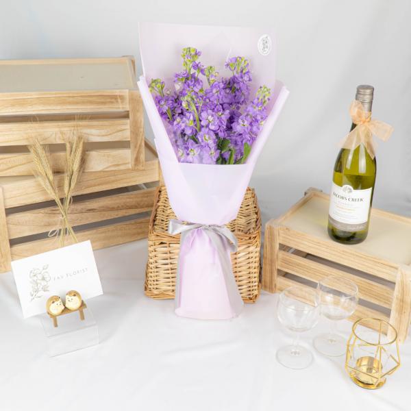 Pastel Passion - Purple Matthiola Bouquet