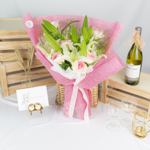 Petal Parade - Lily & Roses Bouquet