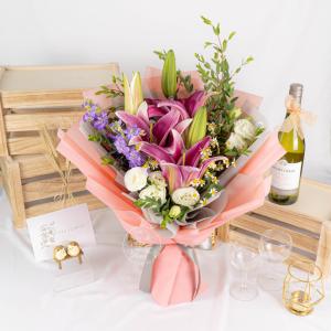 Pinkie – Mixed Lily Premium XL Bouquet