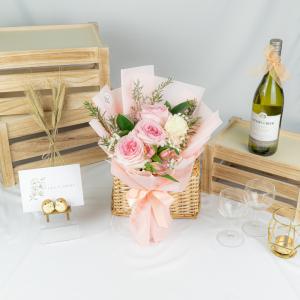 Pretty in Pink – 3 Pink Kenya Rose Bouquet