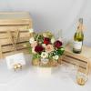 Spring Glow - Flower Basket Arrangement
