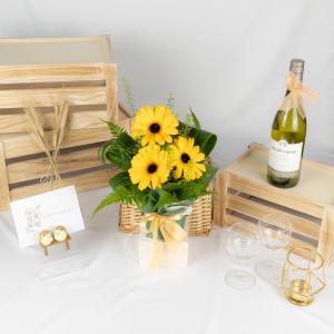 Spring Surprise – Gerbera Bouquet Table Arrangement