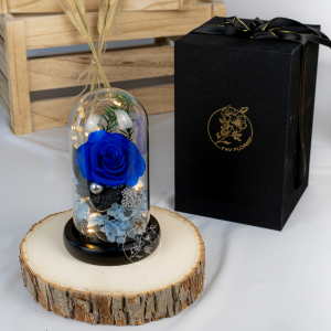 Mystic Blue Flower Dome